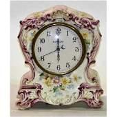 Antique Clock porcelain 1940s Tuckahoe Maker
