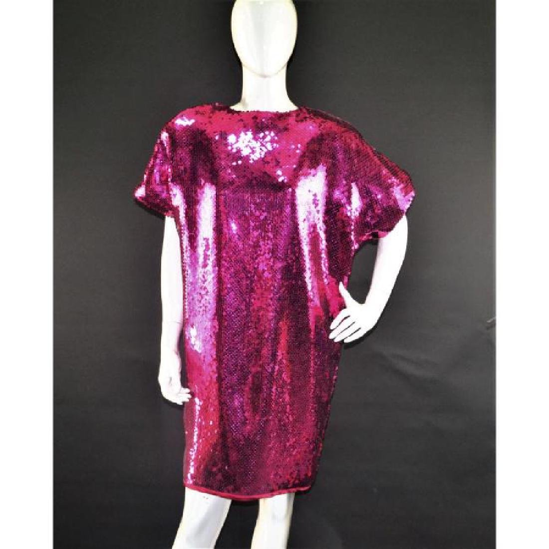 Lesley's Sequioned Fuscia Dress by Dann Hanis of New