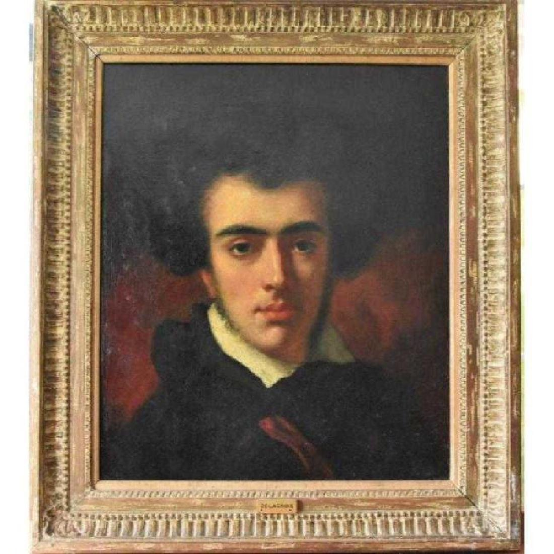 Eugene Delacroix (1798-1863) Oil On Canvas