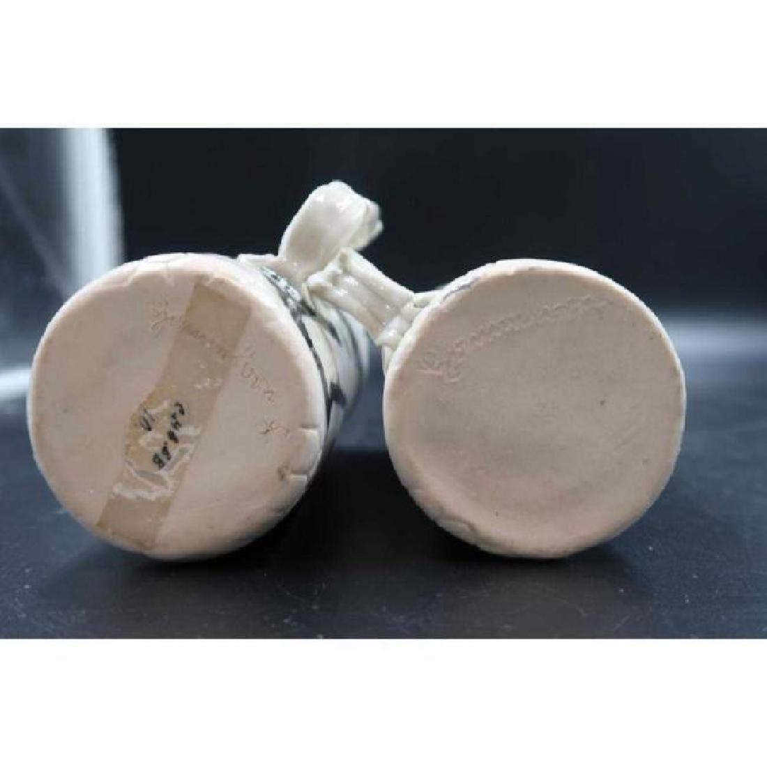 (Pair) signed ceramic mugs - 4