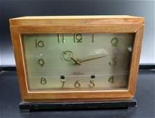 Vintage Mid Century Modern Seth Thomas Wood Case Clock