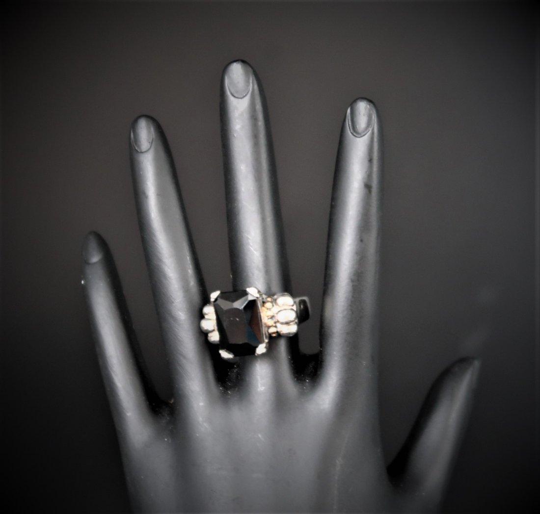 Sterling Vintage Black Onyx Ring