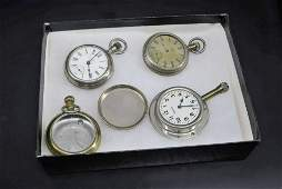 Antique Open Face Silver Pocket Watch with Display