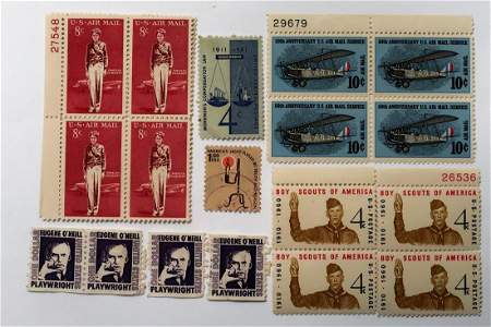Vintage Stamps: Amelia Earhart, 50th Air mail, Eugen