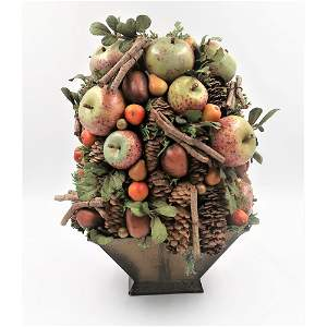 Holiday Compote Centerpiece in Decorative Pot