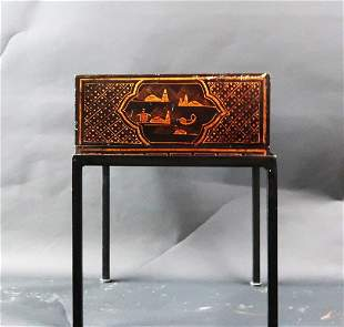 Vintage Japanese Lacquer Box on Stand
