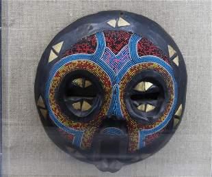 Beaded African Mask Wall Art