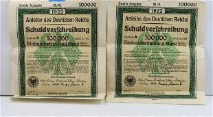 Anleihe des Deutfchen Reichs 1922 German 10000 marks