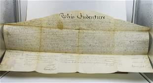 Antique INDENTURE Document wsigned