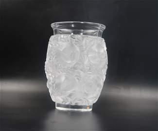 Lalique Signed Crystal Vase Bagatelle