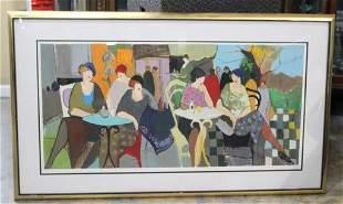 Tarkay Israeli lithograph DeParis Caf