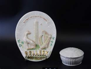 """Belleek Collectors Society trademark Plaque""""Without"""