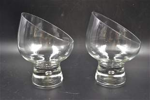 2 Fine Crystal Brandy Snifters