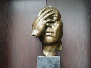 Salvador Dali Bronze Sculpture The Hidden Face