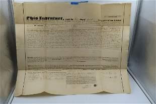 1846 Antique INDENTURE Document of GOEPP NORTHAMPTON