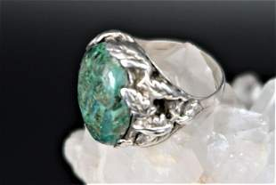 Green Turquoise Silve Ring