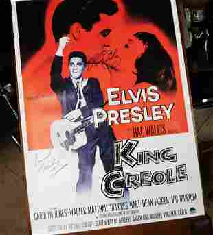 Elves Presley Theater Poster W COA