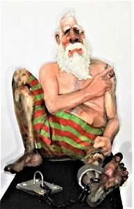 Will Kurtz (American) Carribean Prisoner Sculpture