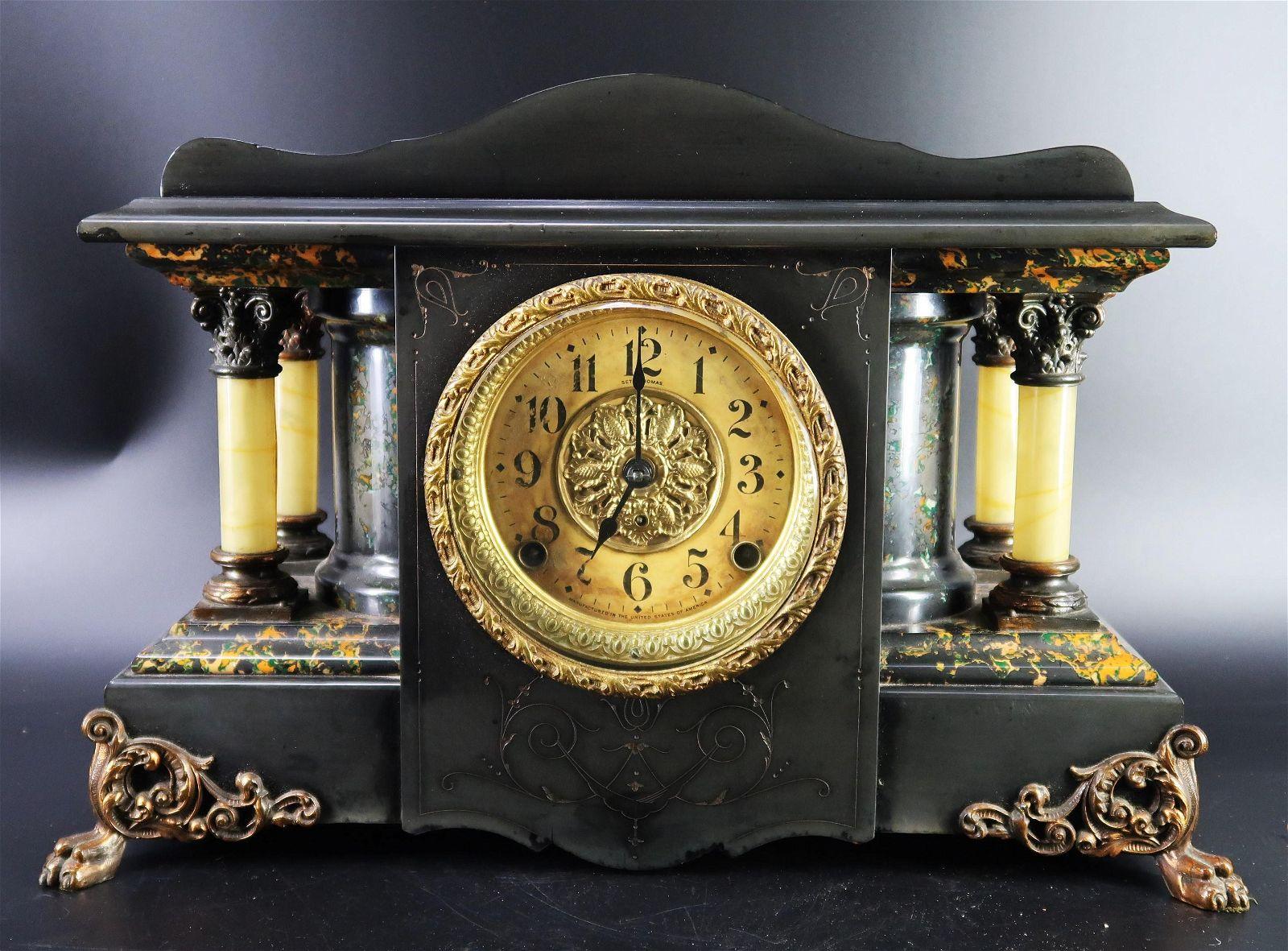 Seth Thomas Red Adamantine Shasta Mantle Clock