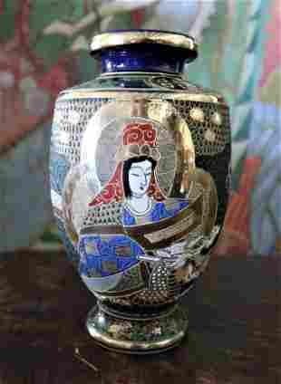 Vintage Satsuma Japanese Geisha Vase