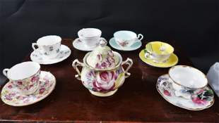 Rose Pansy Forget Me Not 6 Tea Sets