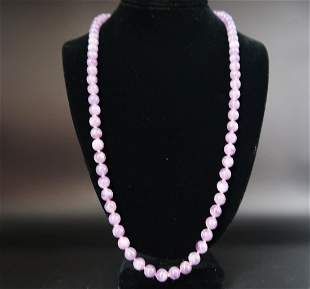 Amethyst Large Pearls Necklace
