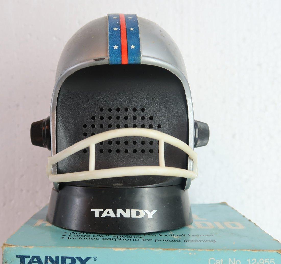 Football Helmet Radio AM Vintage Tandy Corp.