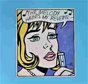 """Signed Lichtenstein """"The Melody Haunts My Reverie"""""""