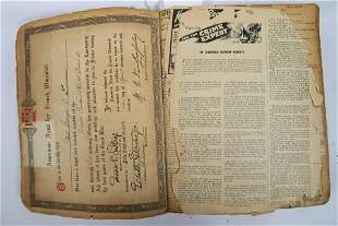Early 1900s 3 Thick News Paper clippings Historic