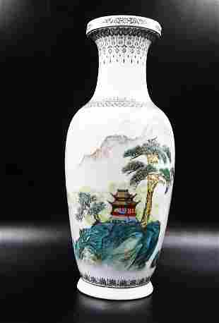 Antique Chinese Porcelain Hand Painted Vase
