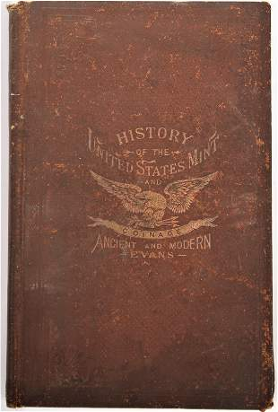 1895 1st Edition History USA Mint Ancient Evans