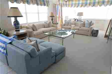 Two Sofas and One Chair with Pillows