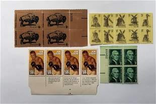 Vintage Stamps Buffalo wildlife Jeoe Louis Thomas