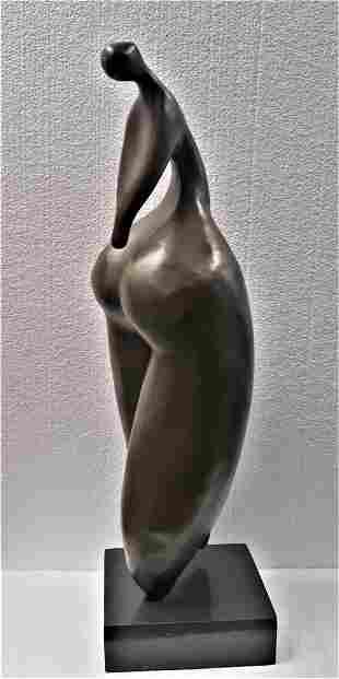 Botero Signed Tribute Curvy Female Bronze Sculpture