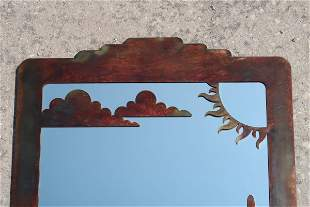 Kokopelli western Indian designed copper Artwork over