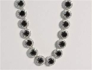 2577ct 59 Black Diamonds 14k wt Gold Necklace