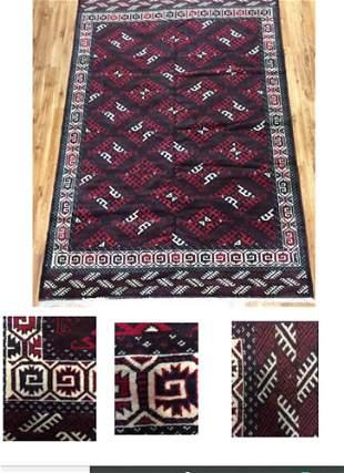 Yamound Rug Afghanistan Pile Wood Foundation Wool