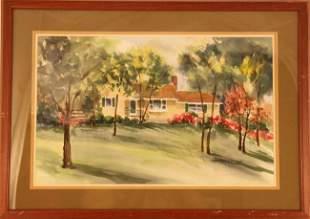 Lynn Travis Stender Watercolor Signed