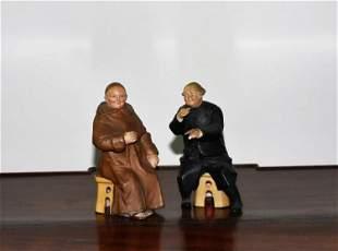 2 German Bisque Figurines