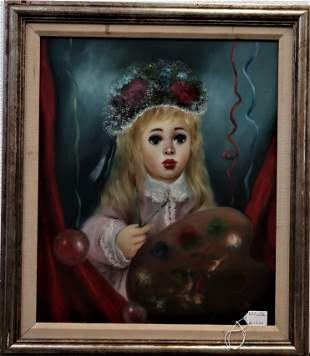 Signed J Raito French Oil Painting on Canva