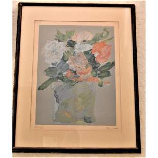 Perter Max HC XII vase flowers Lithograph
