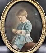 1800s Photo Blue Boy John H. Mcgill (1789-1859)  Ser.