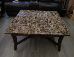 Marble Sqaure  Top Cocktail Table