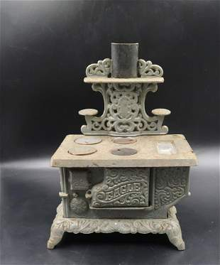 Antique Salesman's Sample EAGLE Sapream Cast Iron Stove
