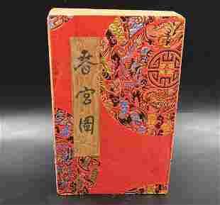 Japanese Shunga Paper Folded Book Erotic Antique