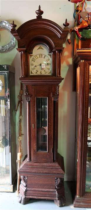Antique English Chippendale  Grandfather Clock