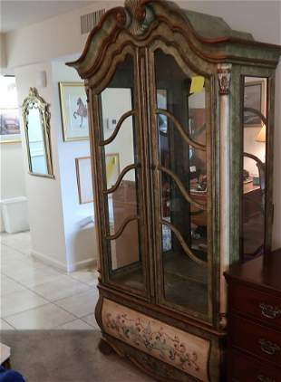 Two Drexel French Country China Cabinet