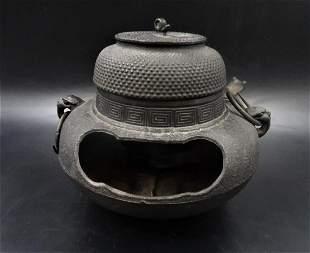 Antique Vintage Japanese Cast Iron Teapot