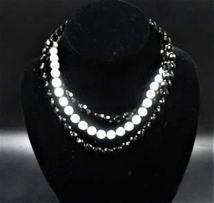Simple Statement Multi Layered Strands Black & White