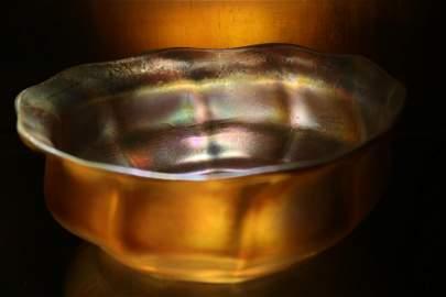 Great Antique L.C.T. Tiffany Faavrile Gold Art Glass